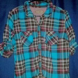 Arizona button up plaid shirt xl